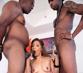 Taylor Mayde's Interracial 2 on 1 8