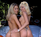 Kelsey Heart and April - Wet Threesome in the Outdoors 5