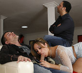 Lynn Love - Brunette Fucks a Pornstar While Her Man Watches 30