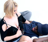 Lya Pink - Sexy Blonde MILF Gets Interracial 16