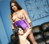 Emma Cummings and Evie Delatosso - Threesome With Their 27