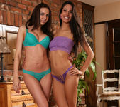 Lyla Storm and Tiffany Taylor Make Out in their Room 7