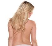 Chloe Lynn - Petite Blonde Scorcher Strips 14