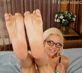 Sexy Blonde Gives a Footjob and Jumps on a Cock 3