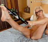 Sexy Blonde Gives a Footjob and Jumps on a Cock 4