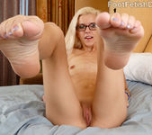 Sexy Blonde Gives a Footjob and Jumps on a Cock 5