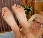 Sexy Blonde Gives a Footjob and Jumps on a Cock 7