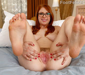 Hot Redhead Wraps Her Sexy Feet Around a Black Cock 6
