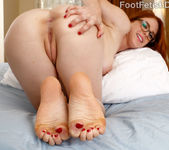 Hot Redhead Wraps Her Sexy Feet Around a Black Cock 8