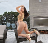 Aidra Fox - big dildo on the patio 7