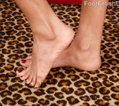 Hot Black Chick Wraps Her Smooth Soles Around a Big Fat Cock 8