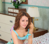 Leana playing on the bed - Nubiles 4
