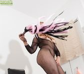 Stevie Lix - bodystocking milf with a whip 13