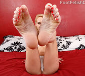 Hot Blonde Babe Has Feet Worshipped and Pussy Pounded 2