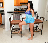 Mia Pearl spreading in the kitchen 3