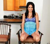 Mia Pearl spreading in the kitchen 4