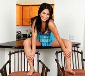 Mia Pearl spreading in the kitchen 6