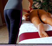 Breasts and Oil - Sarah - All Girl Nude Massage 5