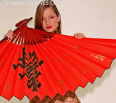 Sandra Shine - Red Fan 4