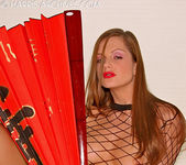 Sandra Shine - Red Fan 13