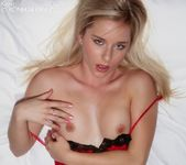 Luscious hottie Kara in her fiery red nightie 14