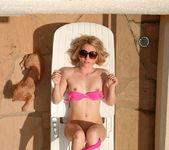 Dainty Kara sunbathing 6