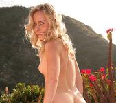 Kara plays outdoors gets horny peels off her dress 11