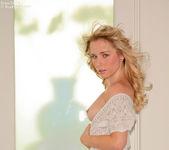 Horny Kara in her sheer dress flashing and stroking 8