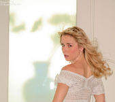 Horny Kara in her sheer dress flashing and stroking 9