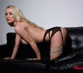 Alexa Grace teasing in her sexy black lingerie 8