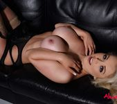 Alexa Grace teasing in her sexy black lingerie 10