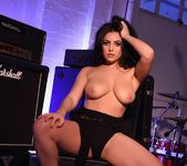 Charley S in her sexy black lace lingerie in the music room 16