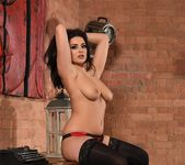 Charley S teasing in her red and black lingerie 13