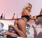 Stacey Robyn teasing in her black lingerie in the lobby 7