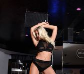 Stacey Robyn teasing in black fishnet lingerie 3