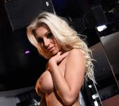 Stacey Robyn teasing in black fishnet lingerie 13