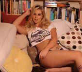 Jess Davies teasing in her Jurassic Park top and panties 3