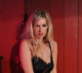 Jess Davies teases in her black lingerie 3