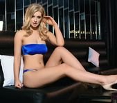 Jess Davies teases in her blue lingerie 4