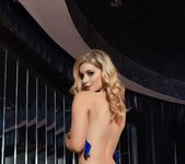 Jess Davies teases in her blue lingerie 9