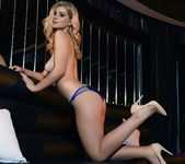 Jess Davies teases in her blue lingerie 13