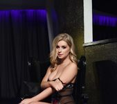 Jess Davies teases in her sheer flowered bodysuit 7