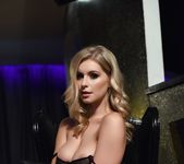 Jess Davies teases in her sheer flowered bodysuit 8