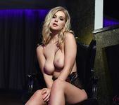 Jess Davies teases in her sheer flowered bodysuit 9