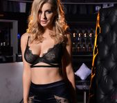 Jess Davies teases in her black bras and skirt 2