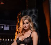 Jess Davies teases in her black bras and skirt 3