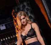 Jess Davies teases in her black bras and skirt 4