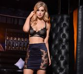 Jess Davies teases in her black bras and skirt 7