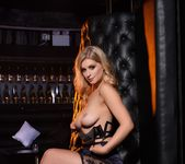 Jess Davies teases in her black bras and skirt 14