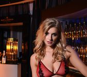 Jess Davies teases in her black and red lingerie 4